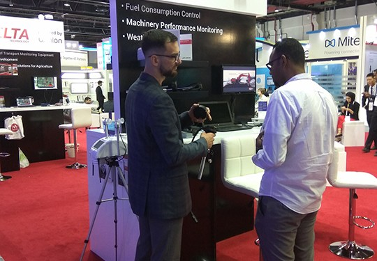 Escort company at the exhibition GITEX Technology Week 2018 Dubai UAE