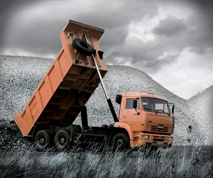 Tipper truck work control