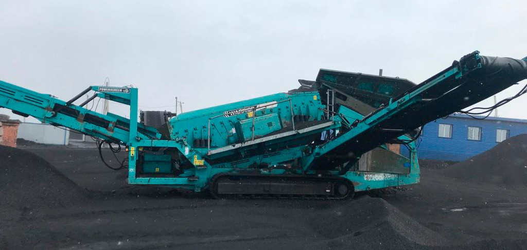 crushing plant work in a quarry coal grinding